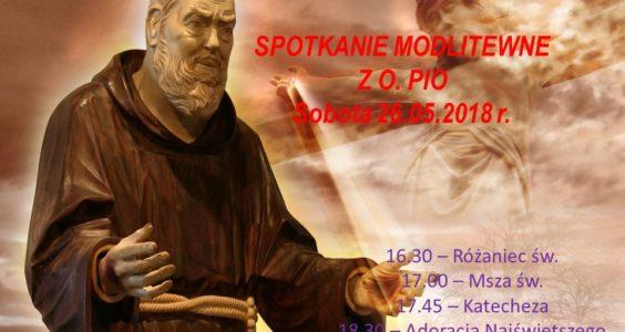 Zapraszamy na spotkanie modlitewne z O. Pio