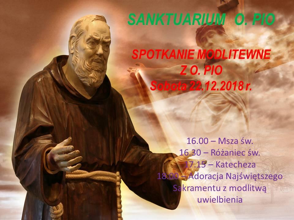 Zapraszamy na spotkanie modlitewne z Ojcem Pio